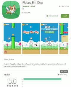 ゲームアプリに偽装した不正アプリ「Flappy Birr Dog」
